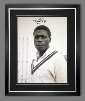 Curtly Ambrose Hand Signed  And Framed Cricket 12 x16 Photograph : D