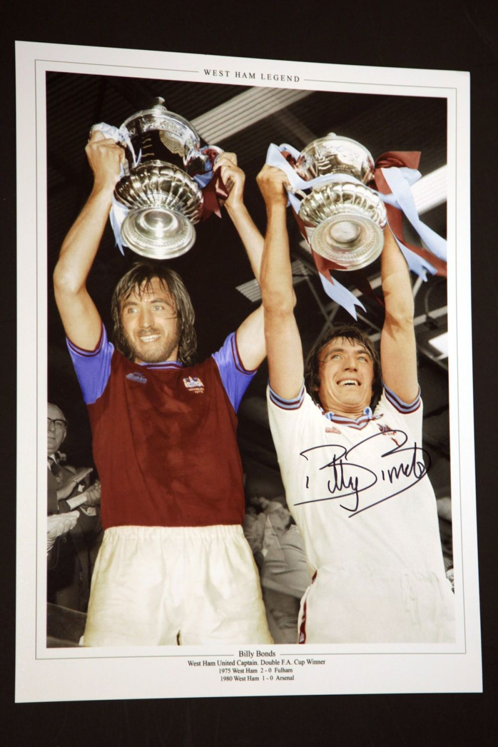 Billy Bonds Signed West Ham United 12x16 Football Photograph