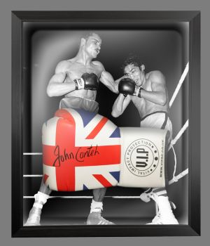 John Conteh Signed Union Jack Vip Boxing Glove Presented In A Dome Frame : A