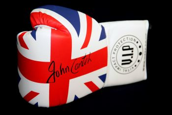 John Conteh Signed Union Jack  Vip Boxing Glove