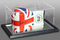 John Conteh Hand Signed Union Jack Vip Boxing Glove In An Acrylic Case