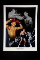John Conteh Hand Signed 12X16 Boxing Photograph : A