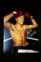 John Conteh Hand Signed 12X16 Boxing Photograph : B