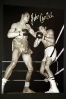 John Conteh Hand Signed 12X16 Boxing Photograph : C