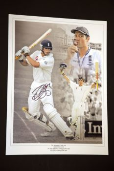 Alastair Cook 12x16 Signed Photograph : A