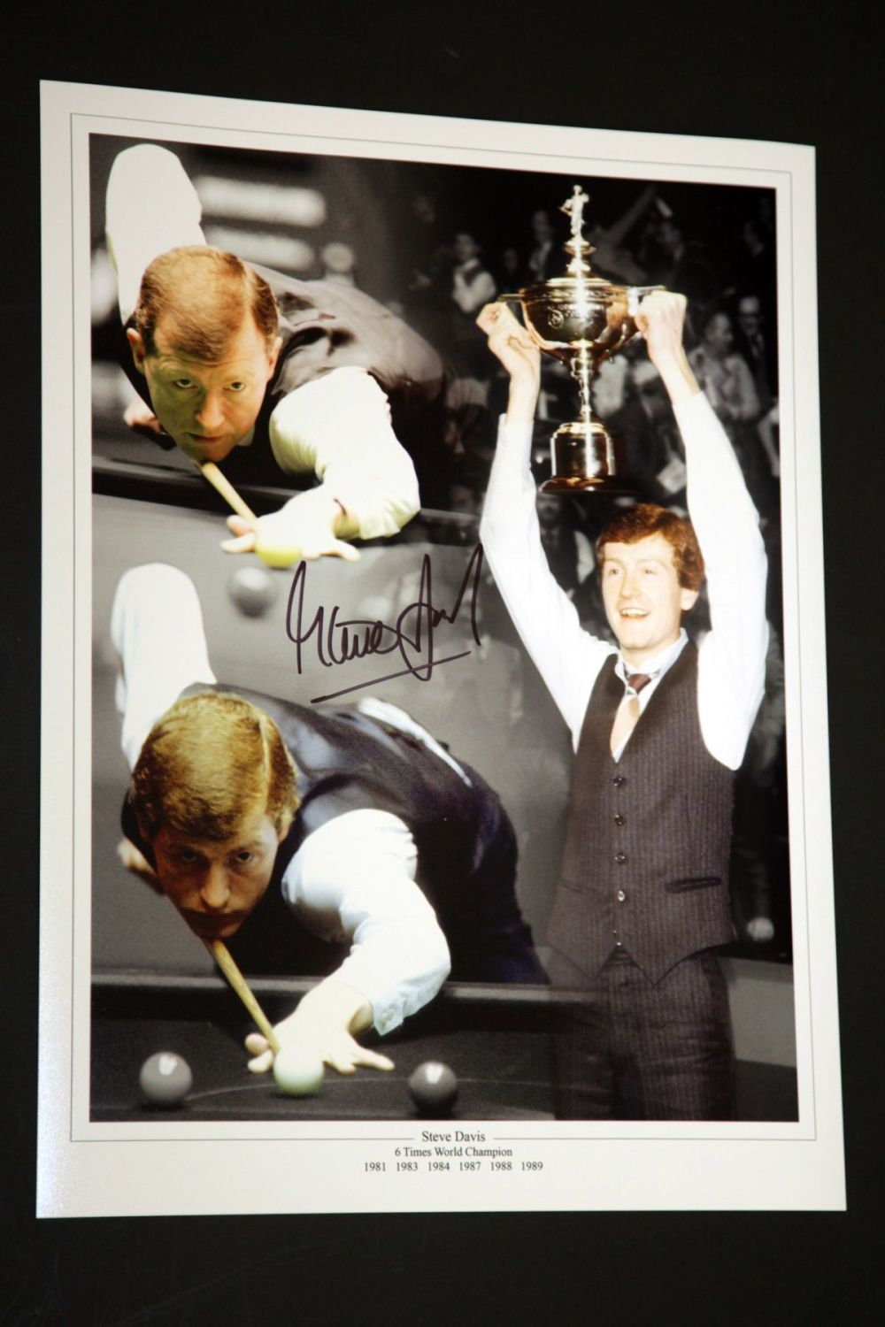 Steve Davis Hand Signed Boxing 12x16 Photograph
