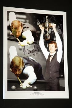 Steve Davis  Signed Snooker 12x16 Photograph