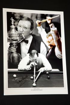 Dennis Taylor Hand Signed 12 x16 Photograph