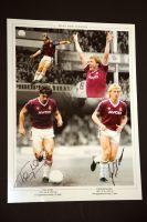 Tony Cottee And Frank Mcavennie Hand Signed West Ham United Football Photograph