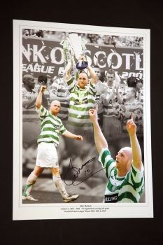 John Hartson Signed Celtic 12x16 Photograph A