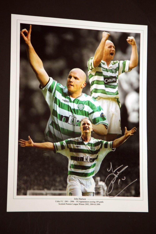 John Hartson Signed Celtic 12x16 Photograph : B