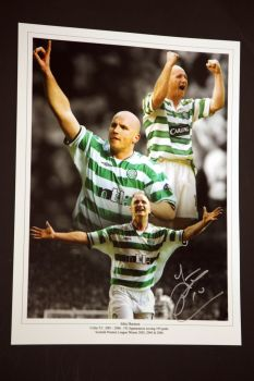 John Hartson Signed Celtic 12x16 Photograph : B
