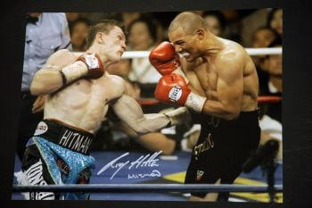 Ricky Hatton Hand Signed 12x16 Boxing Photograph: B