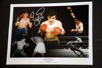 Barry McGuigan Hand Signed Boxing 12x16 Photograph : B