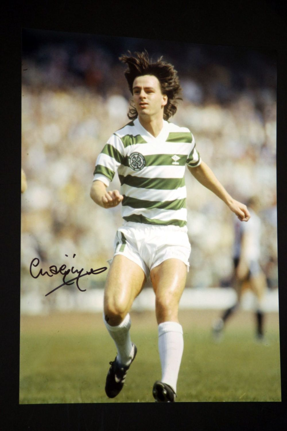 Charlie Nicholas Hand Signed Celtic Fc Football 12x16 Photograph : B