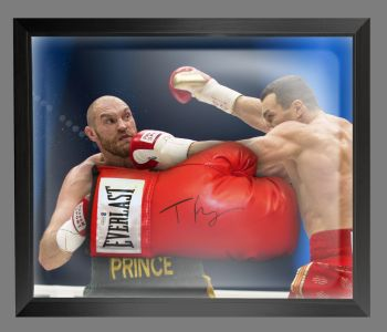 Tyson Fury Signed Red Everlast Boxing Glove Presented In A Dome Frame. A