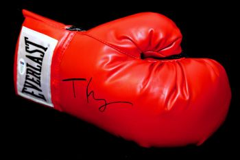 Tyson Fury Signed Red Everlast Boxing Glove.