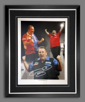 Phil Taylor Signed And Framed 12x16 Photograph : D