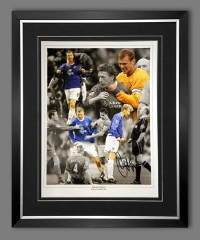 Duncan Ferguson Hand Signed And Framed Everton Football 12x16 Photograph : A