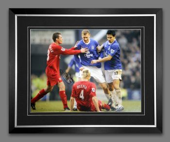 Duncan Ferguson Hand Signed And Framed Everton Football 12x16 Photograph : B