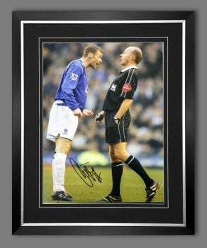 Duncan Ferguson Hand Signed And Framed Everton Football 12x16 Photograph : C