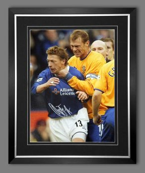 Duncan Ferguson Hand Signed And Framed Everton Football 12x16 Photograph : D