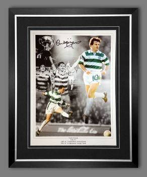 Charlie Nicholas Hand Signed And Framed Celtic Fc Football 12x16 Photograph : A