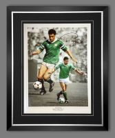 Paul McGrath Hand Signed And Framed Ireland Football Photograph