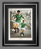 Paul McGrath Hand Signed And Framed Ireland Football Photograph
