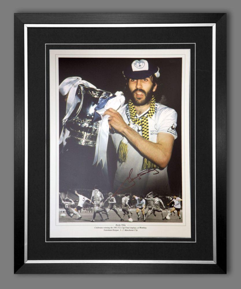 Ricky Villa Hand Signed And Framed Tottenham Hotspurs 12x16 Photograph