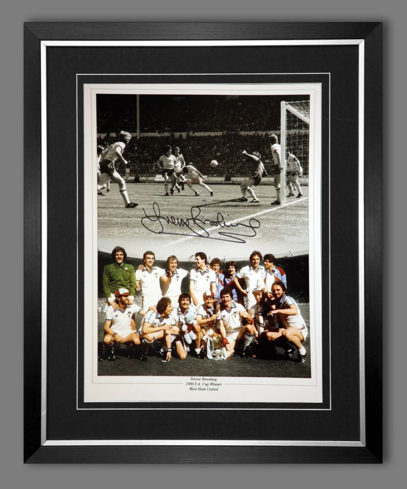 Trevor Brooking Signed And Framed West Ham United 12x16 Football Photo