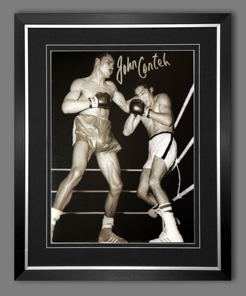 John Conteh Hand Signed And Framed212X16 Boxing Photograph : A