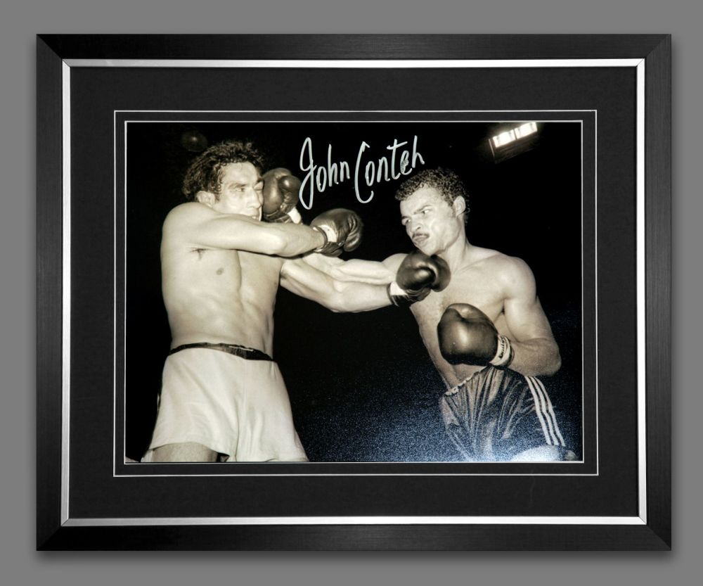 John Conteh Hand Signed And Framed 12X16 Boxing Photograph : C