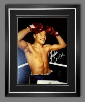 John Conteh Hand Signed And Framed 12X16 Boxing Photograph : D