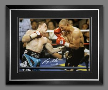 Ricky Hatton Hand Signed And Framed 12x16 Boxing Photograph: A