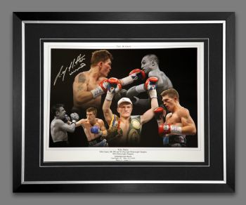 Ricky Hatton Hand Signed And Framed 12x16 Boxing Photograph: B