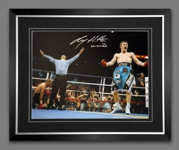 Ricky Hatton Hand Signed And Framed 12x16 Boxing Photograph: C