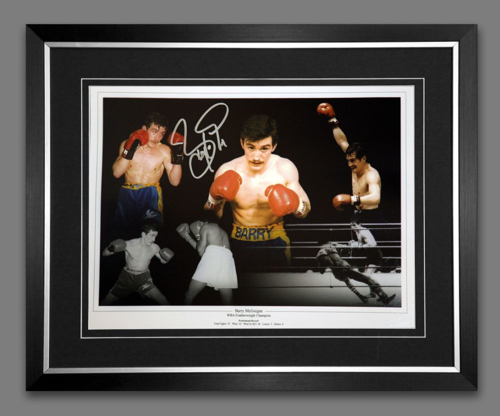 Barry McGuigan Hand Signed And Framed Boxing 12x16 Photograph : A