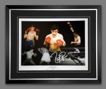Barry McGuigan Hand Signed And Framed Boxing 12x16 Photograph : B