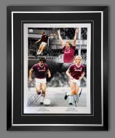 Tony Cottee And Frank Mcavennie Hand Signed And Framed  West Ham United Football Photograph