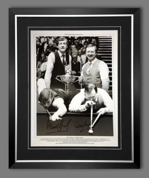 Steve Davis And Dennis Taylor Duel Hand Signed And Framed  Boxing 12x16 Photograph