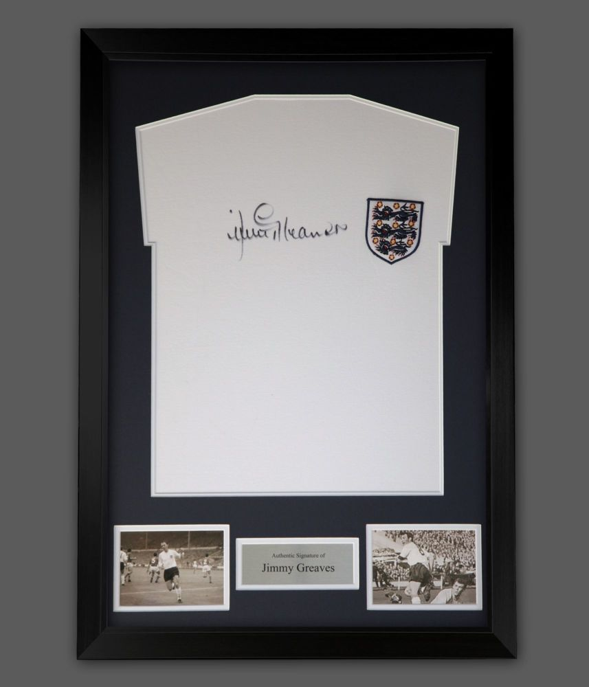 Jimmy Greaves Hand Signed And Framed England Football Shirt