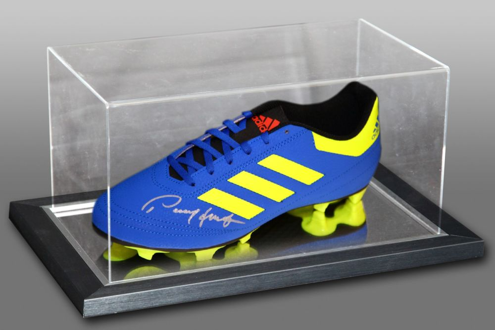 Paul Mcgrath Hand Signed Football Boot in an acrylic case