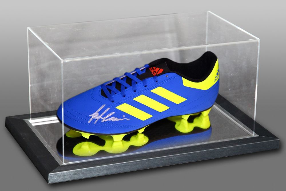 Frank McAvennie Hand Signed Adidas Football Boot In An Acrylic Case
