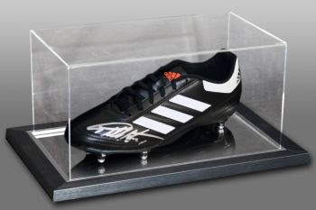 Geoff Hurst Signed Football Boot Presented In An Acrylic Case:  A