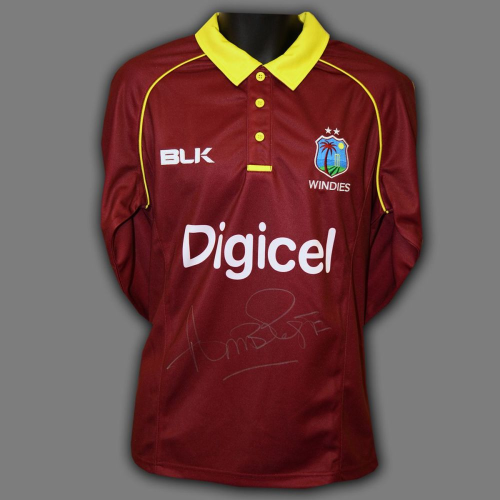 Curtly Ambrose Hand Signed Cricket Shirt: A