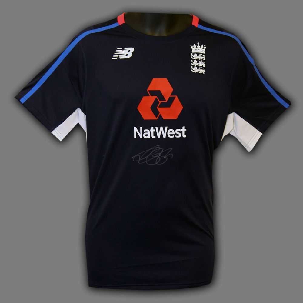 Alastair Cook Hand Signed Cricket England Shirt : B