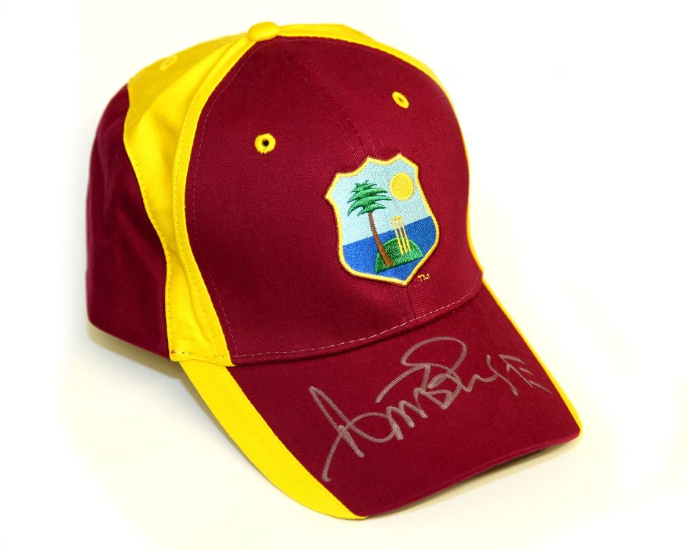 tCurtly Ambrose Hand Signed West Indies Cricket Hat: A