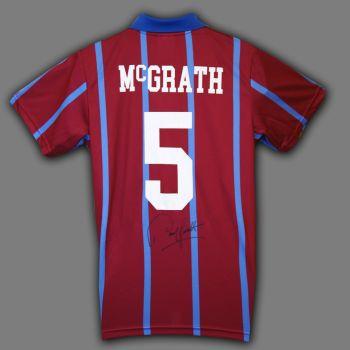 Paul Mcgrath Signed Aston Villa Football Shirt