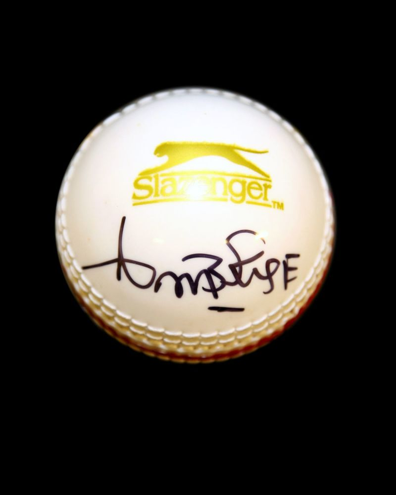 Curtly Ambrose Hand Signed Cricket Ball : A